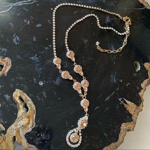 CEZANNE Gold Blush Sensitive Skin Necklace NWOT